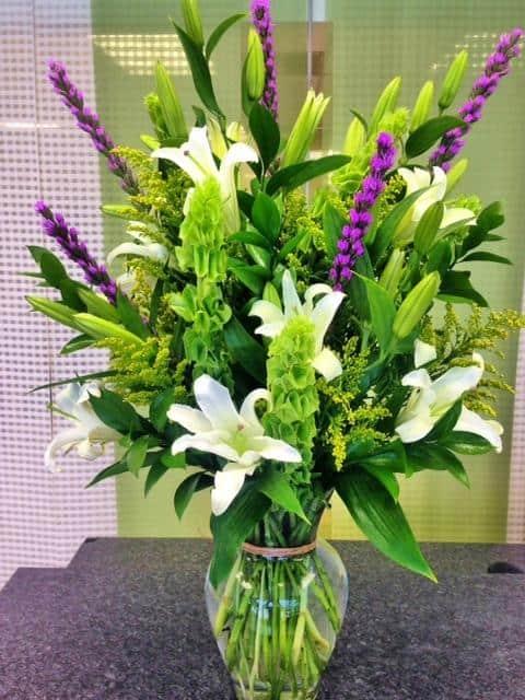 sympathy flower arrangement