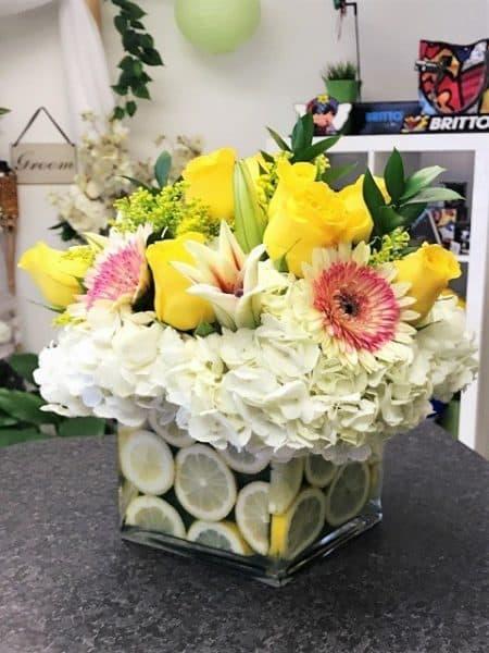 Limes up Flower Arrangement