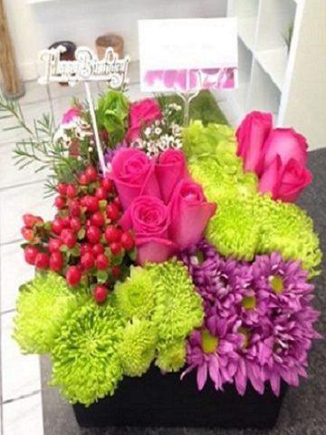 Gift Box Arrangement Flower Bouquet
