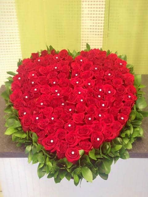 heart shape roses
