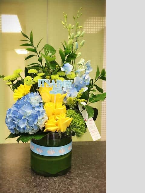 Baby Boy Bundle Flower Bouquet - Miami Delivery Online