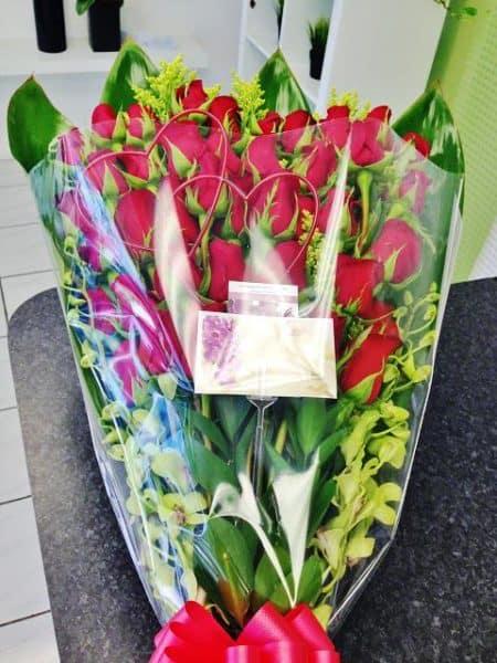 3 doz. rose hand-tied bouquet