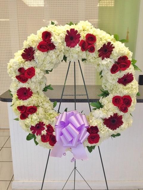 wreath standing