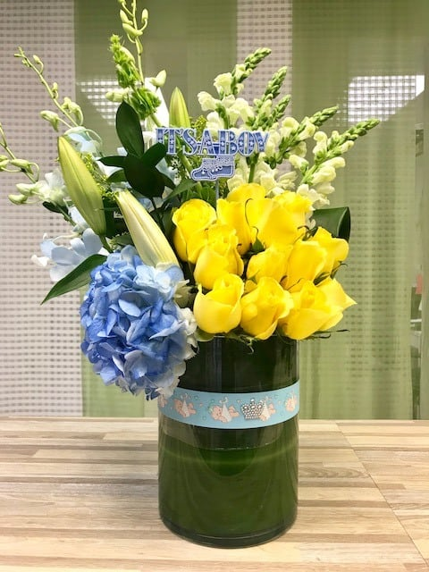 baby boy bundle flowers