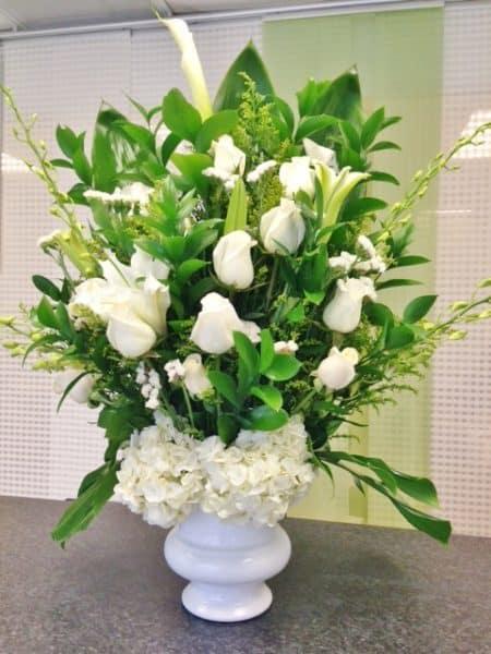 tribute funeral flower arrangement
