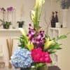 Fish Bowl Zen Style Flower Bouquet