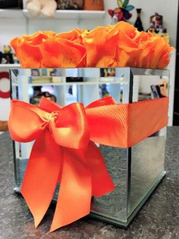 orange preserved roses