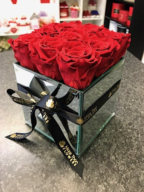 Eternal Roses Mirror Bouquet (9 Roses)