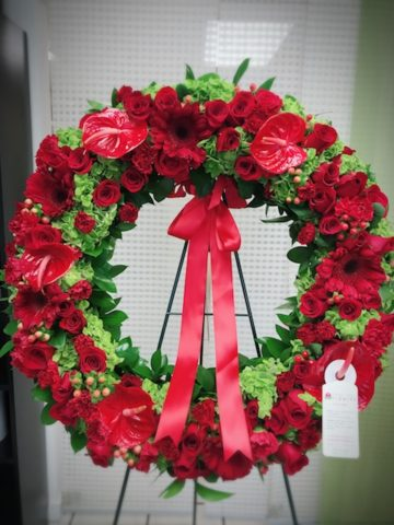 eternal life standing wreath