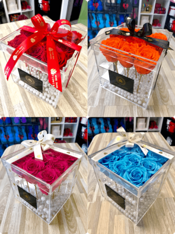eternal roses acrylic box